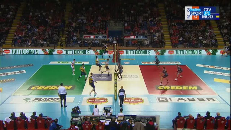 Cucine Lube Civitanova - Leo Shoes Modena 3:0. Skrót meczu